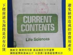 二手書博民逛書店CURRENT罕見CONTENTS Life sciences