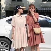 闺蜜装-早春夏新款日系超仙森女洋裝子短袖閨蜜裝短裙法式初戀裙小個子