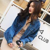 春裝日韓女寬鬆長袖上衣休閒牛仔短外套春 新主流