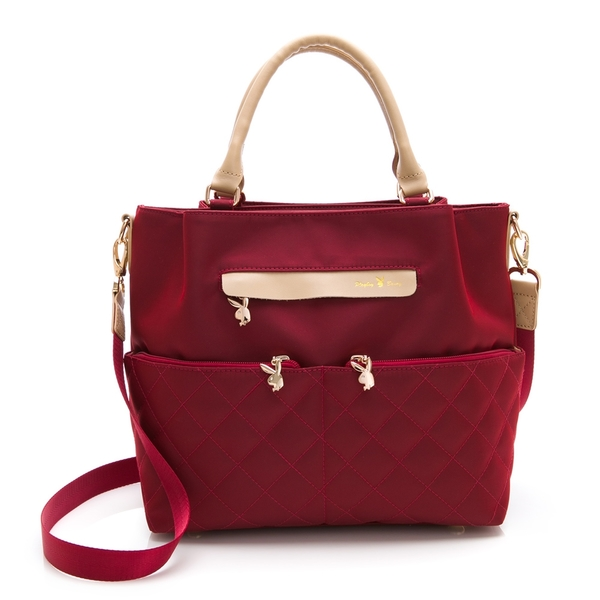 PLAYBOY- 手提包附長背帶 質感新生活系列 -紅色