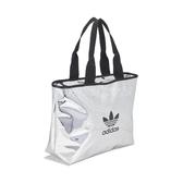 adidas 購物袋 Shopper Bag 銀 黑 男女款 運動休閒 手提 肩背 【ACS】 ED5885