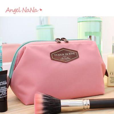 收納袋。皮標字母 化妝包/旅行收納包(SBA0195)AngelNaNa