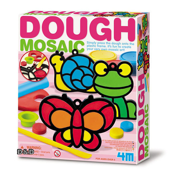 【4M】04602 美勞創意-馬賽克黏土藝術(花園) Dough Mosaic-Making Kit(Garden)