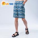 UV100 防曬 抗UV-輕量印花海灘短褲-男