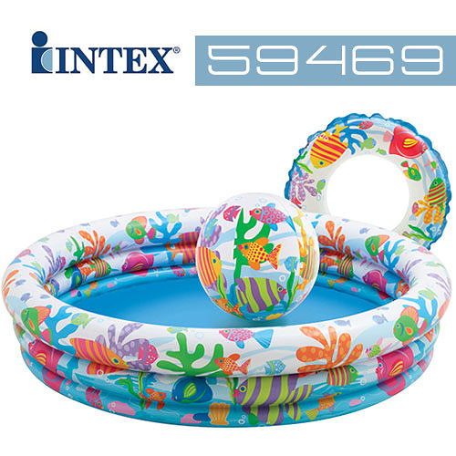 【美國 INTEX】戲水系列-歡樂充氣泳池組/戲水池/游泳池(款式隨機) 59469