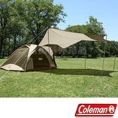 Coleman CM-33799_綠橄欖版 4-6人透氣圓頂露營帳IV套裝組 天幕+帳篷組合