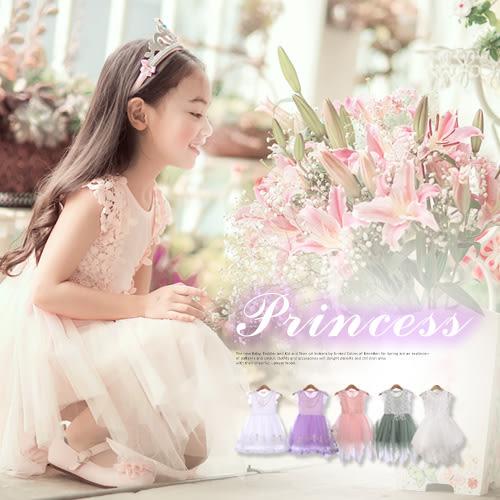 柔美春天仙子~多款珍珠蕾絲織花雪紡層次洋裝(210226)★水娃娃時尚童裝★
