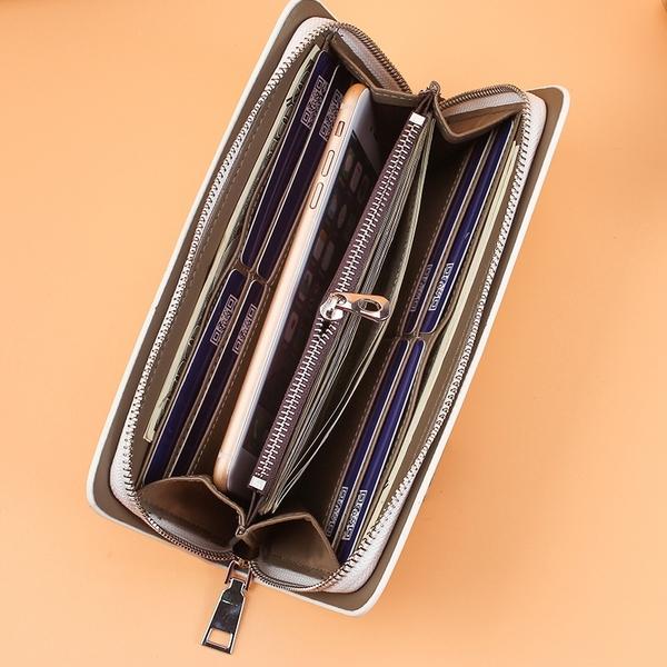 男士中長款錢夾 大容量多卡位皮夾 百搭男生長夾 韓版青年男包錢包長款錢包 商務時尚休閒長夾