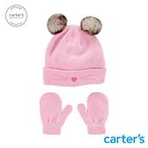 【美國 carter s】貓咪造型毛帽2件組(2T-4T)-台灣總代理
