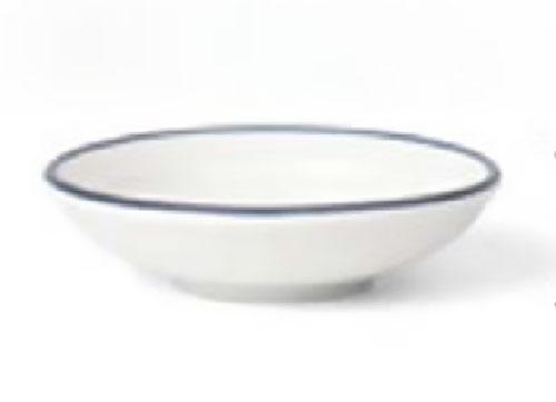 原點居家創意麵碗飯碗大小盤子創意簡約北歐餐盤飯碗陶瓷藍線家用(醬油碟)