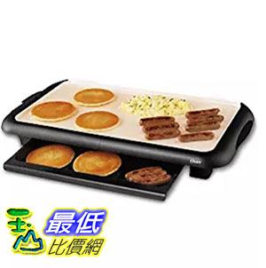 [美國直購] Oster CKSTGRFM18W-ECO 燒烤器加熱板 DuraCeramic Griddle with Warming Tray, Black/Crème