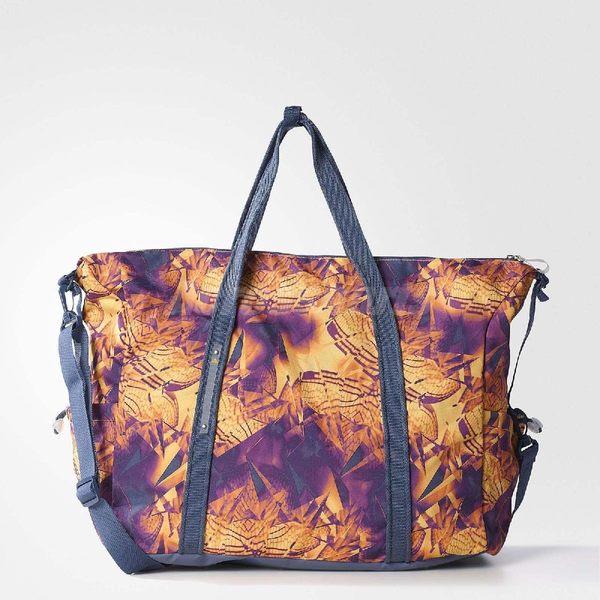 adidas 托特包 Perfect Graphic Team Bag 手提包 肩背包 紫 黃 幾何圖形 包包 女款 【PUMP306】 AY5396