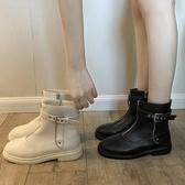 短靴 女靴秋季新款高筒潮鞋平底帥氣馬丁靴女英倫風ins網紅 - 歐美韓