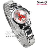 HELLO KITTY 大蝴蝶結 美樂蒂卡通錶 不銹鋼錶帶 女錶 白色 LK697LWCI-R 貓咪 手鍊手錶