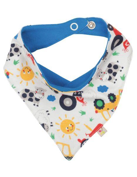 【英國Frugi】有機棉童趣圍兜 / 口水巾 / 三角造型領巾 - 農場好朋友 ACS603FAFOS