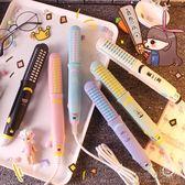 兩用便攜式迷你卡通卷發棒直發器空氣劉海電夾板學生不傷發二合一  220v貝芙莉