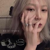 【3只裝】戒指女鈦鋼開口可調節食指關節復古指環【繁星小鎮】