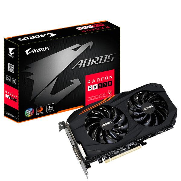 請先詢問貨況 GIGABYTE 技嘉 AORUS Radeon RX570 4G (GV-RX570AORUS-4GD) 顯示卡
