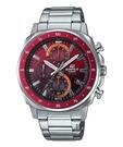 CASIO 卡西歐 EDIFICE 漸層風 計時腕錶 EFV-600D-4A 火紅