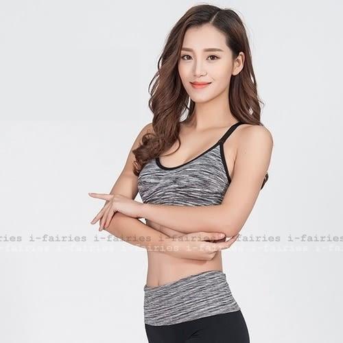 5天出貨★瑜伽健身背心式運動文胸速榦跑步無鋼圈防震內衣★ifairies【31062】