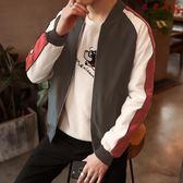 春秋季男士韓版修身外套夾克棒球服 衣普菈