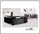 {{ 海中天休閒傢俱廣場 }} G-35 摩登時尚 辦公桌系列 601-2A CP2677玻璃主管桌(全組)(可拆賣)