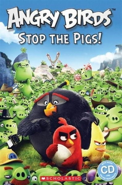 Scholastic Popcorn Readers Level 2:Angry Birds: Stop the Pigs! with CD
