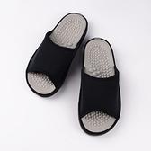 日本設計素面按摩拖鞋 -黑M