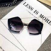太陽鏡瘦圓臉時尚女墨鏡多邊形眼鏡 ☸mousika