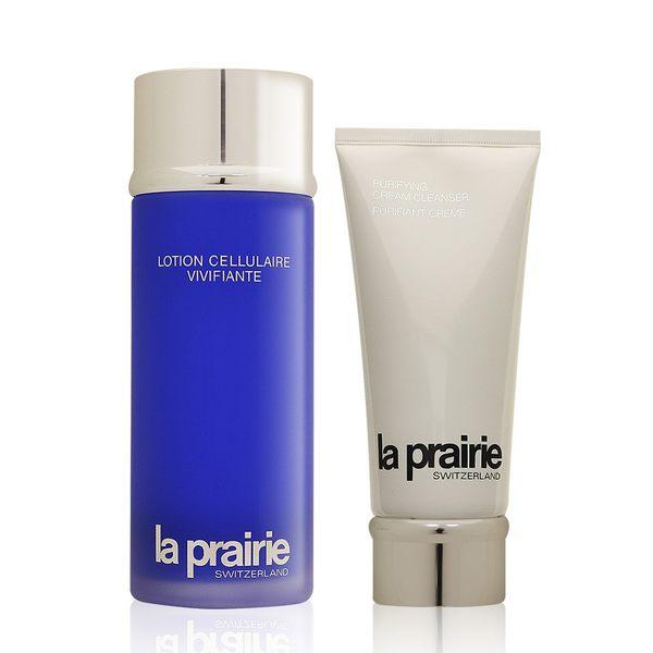 la prairie清新潤膚露 250ml+清新潔膚霜 200ml 【美人密碼】