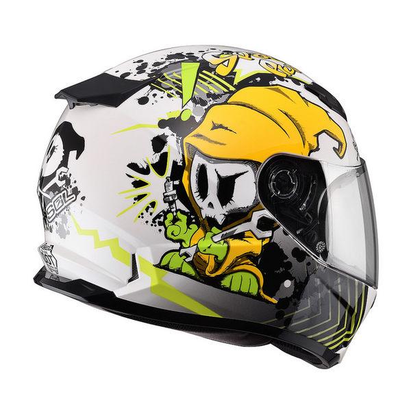 SOL安全帽,SF2M,小怪獸/白黃
