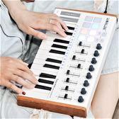 worlde-PANDAmini25鍵midi鍵盤打擊墊音樂編曲鍵盤電音迷笛控制器 生活樂事館