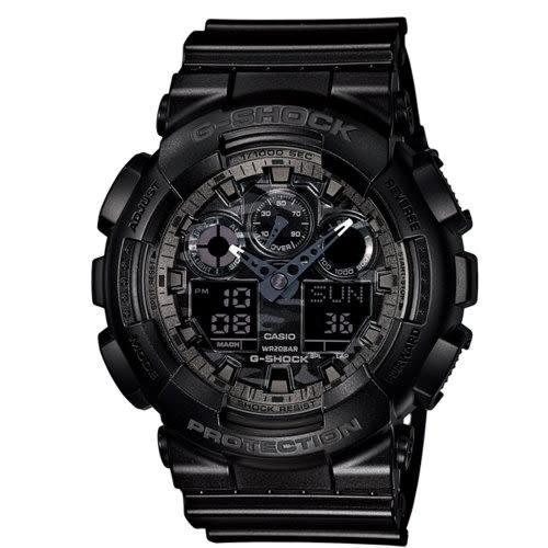 CASIO G-SHOCK/世界時間雙顯計時錶/GA-100CF-1ADR