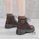 馬丁靴 女棉鞋新款英倫風厚底秋冬季女鞋靴子日系加絨小短靴 限時優惠