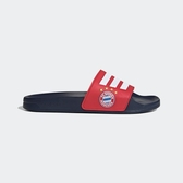 Adidas ADILETTE SHOWER 拜仁慕尼黑足球俱樂部LOGO 男女款紅白色休閒拖鞋-NO.FW7076