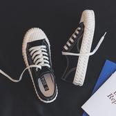 歡慶中華隊餅干帆布鞋女鞋潮鞋新款秋鞋韓版板鞋百搭布鞋貝殼鞋小黑鞋子