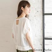 ❖ Hot item ❖ 後背開口拼接造型格紋上衣 - Green Parks