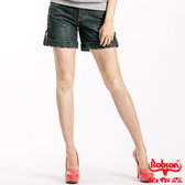 BOBSON 女款反褶蝴蝶刺繡短褲(137-77)