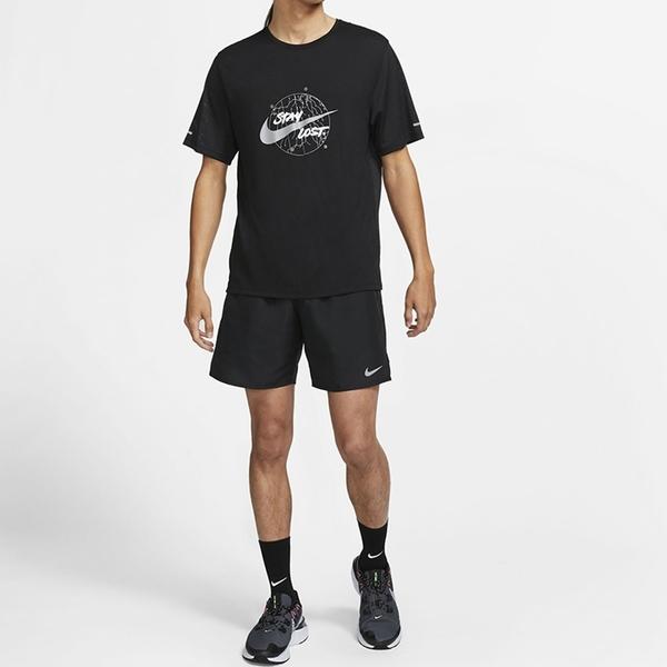 NIKE 運動褲 短褲 UNLINED RUNNING 黑 慢跑 反光 休閒 男 (布魯克林) CZ9069-010