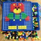 兒童玩具拼插積木早教益智釘拼圖3-4-5...