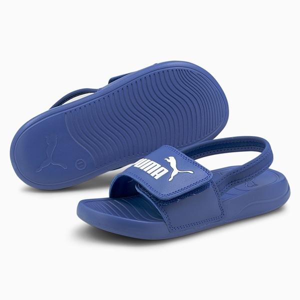 PUMA Popcat 20 Backstrap 童鞋 中童 涼鞋 基本款 輕量 LOGO 藍【運動世界】38055506