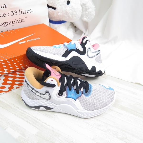 NIKE RENEW ELEVATE II 怪物奇兵聯名 男女款 籃球鞋 CW3406505 白黑【iSport愛運動】