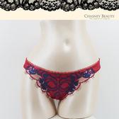 Chasney Beauty-鬱金香S-M蕾絲水晶丁褲(紅藍)