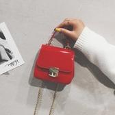 小包包女鎖扣迷你小方包時尚鏈條斜挎包