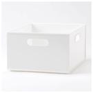 收納盒 N INBOX (W) 窄低型 四分之一型 WH NITORI宜得利家居
