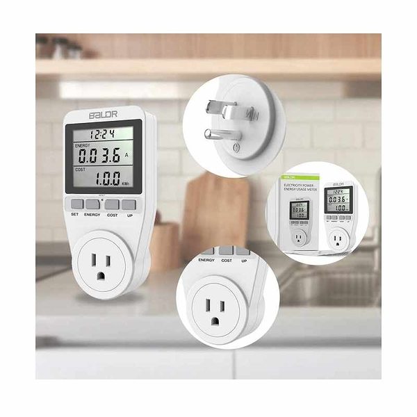 BALDR 電力監測儀 電能計量表 Electricity Monitor Power Energy Usage Meter [2美國直購]