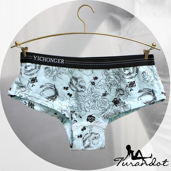 ◆Turandot-杜蘭朵 ◆繽紛色系 運動型 舒適棉質 玫瑰紋內褲 [03290010] 三角褲 8色 Free