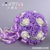 創意韓式新娘伴娘手捧花仿真花球婚紗攝影道具花結婚婚慶用品