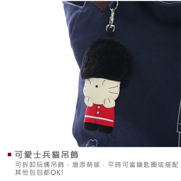 Kiro貓‧士兵貓 英倫風 拉鍊 肩背/手提/托特包【210900】