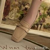 樂福鞋 韓版英倫小皮鞋女學院風樂福鞋春季韓版軟皮平底單鞋女百搭潮 16 育心館